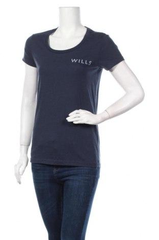 Дамска тениска Jack Wills, Размер M, Цвят Син, 50% памук, 50% полиестер, Цена 25,35лв.