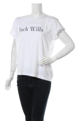 Дамска тениска Jack Wills, Размер L, Цвят Бял, 50% памук, 50% полиестер, Цена 25,35лв.