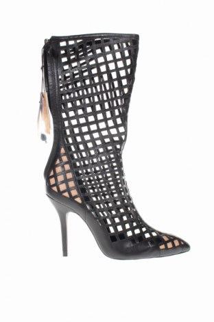 Γυναικείες μπότες Zara, Μέγεθος 38, Χρώμα Μαύρο, Γνήσιο δέρμα, Τιμή 46,08€