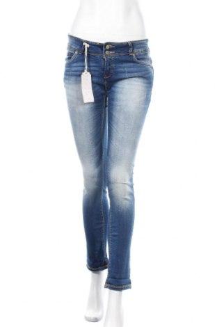 Дамски дънки Alcott, Размер M, Цвят Син, 78% памук, 2% еластан, 18% полиестер, 2% вискоза, Цена 34,30лв.