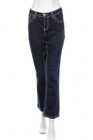 Дамски дънки Arizona, Размер L, Цвят Син, 75% памук, 23% полиестер, 2% еластан, Цена 24,10лв.