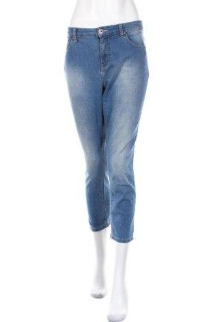 Дамски дънки Arizona, Размер L, Цвят Син, 79% памук, 19% полиестер, 2% еластан, Цена 20,79лв.