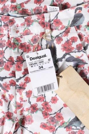 Дамски дънки Desigual, Размер XS, Цвят Многоцветен, 68% памук, 28% полиестер, 4% еластан, Цена 96,75лв.