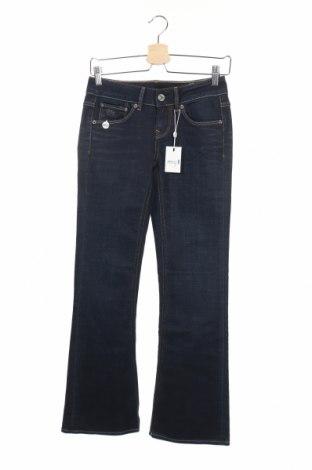 Дамски дънки G-Star Raw, Размер XS, Цвят Син, 98% памук, 2% еластан, Цена 33,80лв.