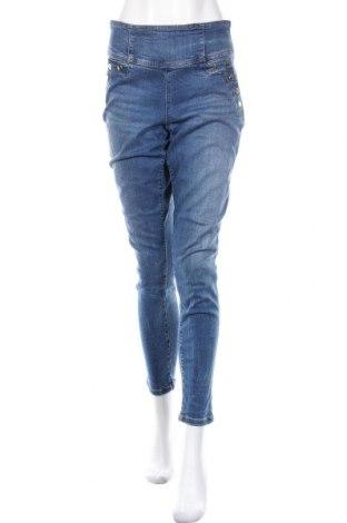 Дамски дънки Guess, Размер L, Цвят Син, 63% лиосел, 30% памук, 5% полиестер, 2% еластан, Цена 91,20лв.