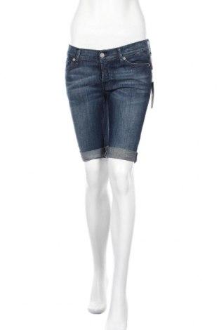 Γυναικείο κοντό παντελόνι 7 For All Mankind, Μέγεθος S, Χρώμα Μπλέ, 98% βαμβάκι, 2% ελαστάνη, Τιμή 38,30€