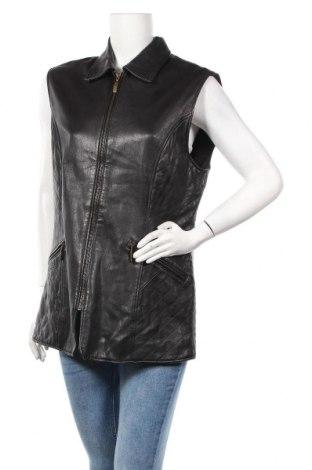 Дамски кожен елек Gerry Weber, Размер L, Цвят Черен, Естествена кожа, Цена 85,41лв.