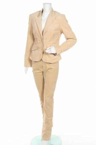 Дамски костюм Hennes, Размер M, Цвят Бежов, 97% памук, 3% еластан, Цена 15,49лв.