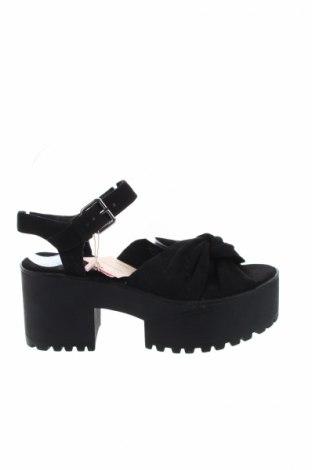Γυναικεία παπούτσια Pull&Bear, Μέγεθος 38, Χρώμα Μαύρο, Κλωστοϋφαντουργικά προϊόντα, Τιμή 14,29€