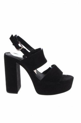 Γυναικεία παπούτσια Pull&Bear, Μέγεθος 40, Χρώμα Μαύρο, Κλωστοϋφαντουργικά προϊόντα, Τιμή 26,80€