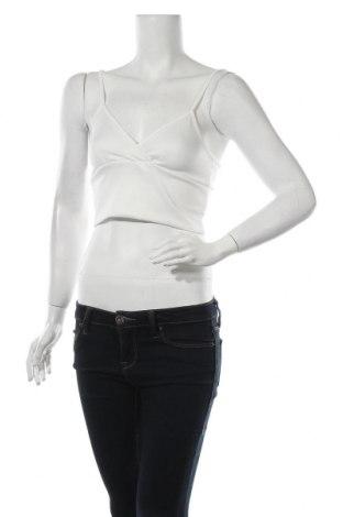 Γυναικείο αμάνικο μπλουζάκι Boohoo, Μέγεθος S, Χρώμα Λευκό, 95% πολυεστέρας, 5% ελαστάνη, Τιμή 6,19€