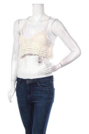 Γυναικείο αμάνικο μπλουζάκι Oysho, Μέγεθος L, Χρώμα  Μπέζ, Βαμβάκι, Τιμή 4,62€