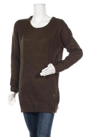 Дамски пуловер Alcott, Размер M, Цвят Зелен, Акрил, Цена 29,40лв.