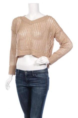 Дамски пуловер Ambiance, Размер L, Цвят Кафяв, Акрил, Цена 24,99лв.