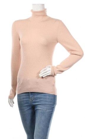 Дамски пуловер Massimo Dutti, Размер XL, Цвят Розов, 55% коприна, 45% вълна, Цена 51,66лв.