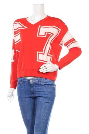 Дамски пуловер TWINSET, Размер S, Цвят Червен, 65% вискоза, 35% полиамид, Цена 108,12лв.