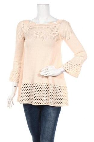 Дамски пуловер TWINSET, Размер S, Цвят Розов, Памук, Цена 114,92лв.