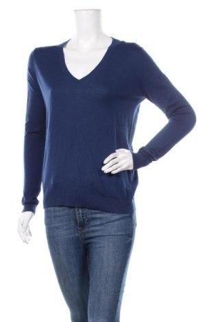 Дамски пуловер TWINSET, Размер S, Цвят Син, 85% памук, 15% кашмир, Цена 121,72лв.
