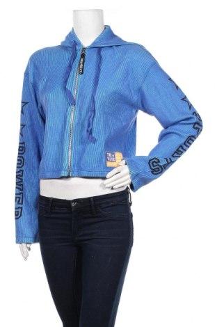 Дамски суичър Power, Размер M, Цвят Син, 100% памук, Цена 6,56лв.