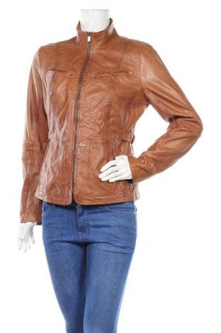 Дамско кожено яке Jilani Collection, Размер M, Цвят Кафяв, Естествена кожа, Цена 257,40лв.