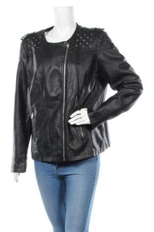 Дамско кожено яке Yessica, Размер XXL, Цвят Черен, Еко кожа, Цена 43,05лв.