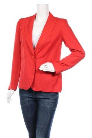 Дамско сако Massimo Dutti, Размер M, Цвят Червен, 70% вискоза, 30% лен, Цена 46,28лв.