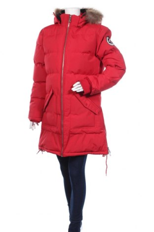 Дамско яке Geographical Norway, Размер XL, Цвят Червен, Полиамид, естествен косъм, Цена 191,40лв.