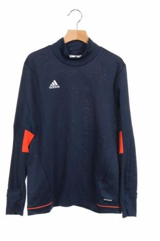 Детска спортна блуза Adidas, Размер 11-12y/ 152-158 см, Цвят Син, Полиестер, Цена 20,33лв.