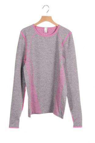 Детска спортна блуза Yigga, Размер 15-18y/ 170-176 см, Цвят Сив, 66% полиестер, 25% полиамид, 9% еластан, Цена 15,71лв.