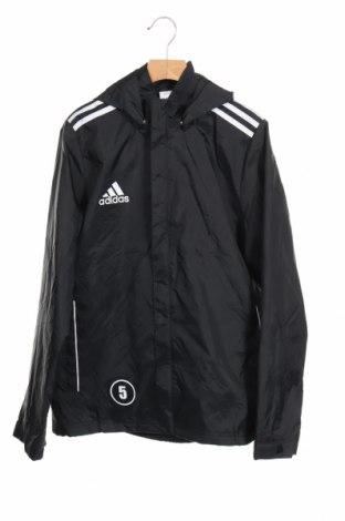 Детско спортно яке Adidas, Размер 13-14y/ 164-168 см, Цвят Черен, Полиамид, Цена 38,81лв.