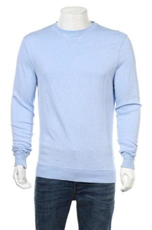 Мъжка блуза Massimo Dutti, Размер M, Цвят Син, 53% лен, 47% памук, Цена 32,24лв.