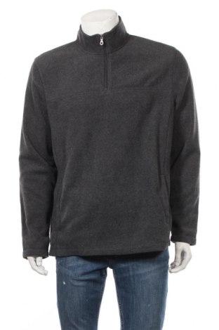 Мъжка поларена блуза Croft & Barrow, Размер L, Цвят Сив, Полиестер, Цена 18,95лв.