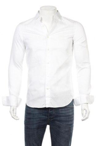 Мъжка риза Massimo Dutti, Размер S, Цвят Бял, Памук, Цена 34,32лв.