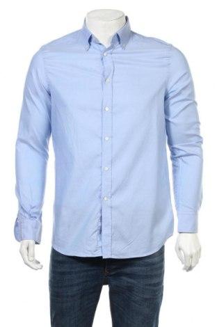 Мъжка риза Massimo Dutti, Размер M, Цвят Син, Памук, Цена 13,20лв.