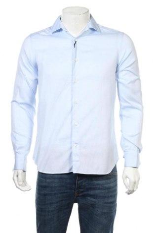 Мъжка риза Massimo Dutti, Размер M, Цвят Син, Памук, Цена 39,52лв.