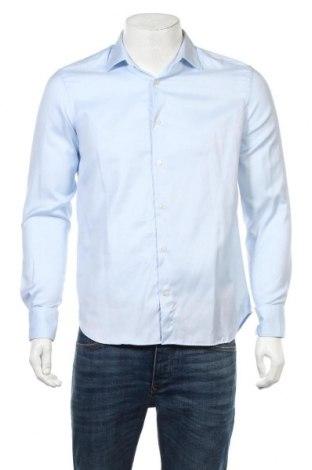 Мъжка риза Massimo Dutti, Размер M, Цвят Син, Памук, Цена 17,20лв.