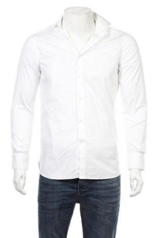Мъжка риза Massimo Dutti, Размер S, Цвят Бял, Памук, Цена 13,80лв.