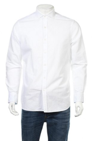 Мъжка риза Massimo Dutti, Размер L, Цвят Бял, Памук, Цена 37,44лв.