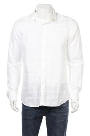 Мъжка риза Massimo Dutti, Размер L, Цвят Бял, Памук, Цена 18,48лв.
