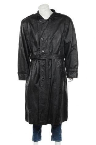 Мъжки кожен шлифер, Размер XL, Цвят Черен, Естествена кожа, Цена 89,63лв.