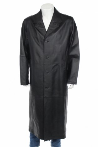 Ανδρική δερμάτινη καμπαρντίνα Jcc, Μέγεθος XL, Χρώμα Μαύρο, Γνήσιο δέρμα, Τιμή 79,59€