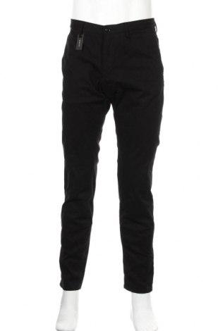 Мъжки панталон Massimo Dutti, Размер M, Цвят Черен, 97% памук, 3% еластан, Цена 22,12лв.