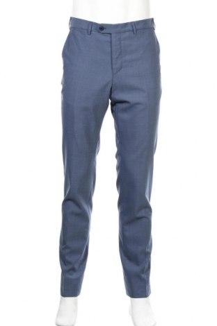 Мъжки панталон Massimo Dutti, Размер M, Цвят Син, Вълна, Цена 6,54лв.