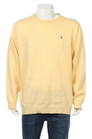 Мъжки пуловер Gant, Размер XXL, Цвят Жълт, Вълна, Цена 45,89лв.