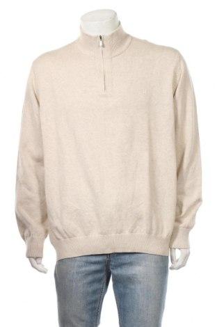Мъжки пуловер Izod, Размер XL, Цвят Бежов, Памук, Цена 27,67лв.