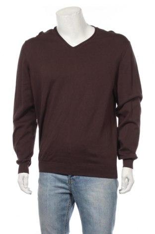 Мъжки пуловер Massimo Dutti, Размер XXL, Цвят Кафяв, 100% памук, Цена 67,32лв.