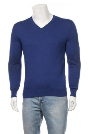 Мъжки пуловер Massimo Dutti, Размер M, Цвят Син, Цена 55,76лв.