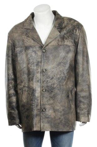 Мъжко кожено яке, Размер XXL, Цвят Черен, Естествена кожа, Цена 59,57лв.