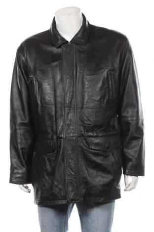 Мъжко кожено яке, Размер L, Цвят Черен, Естествена кожа, Цена 67,38лв.