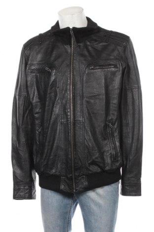 Мъжко кожено яке A.W.Dunmore, Размер XXL, Цвят Черен, Естествена кожа, Цена 72,26лв.